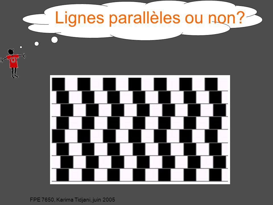 Lignes parallèles ou non