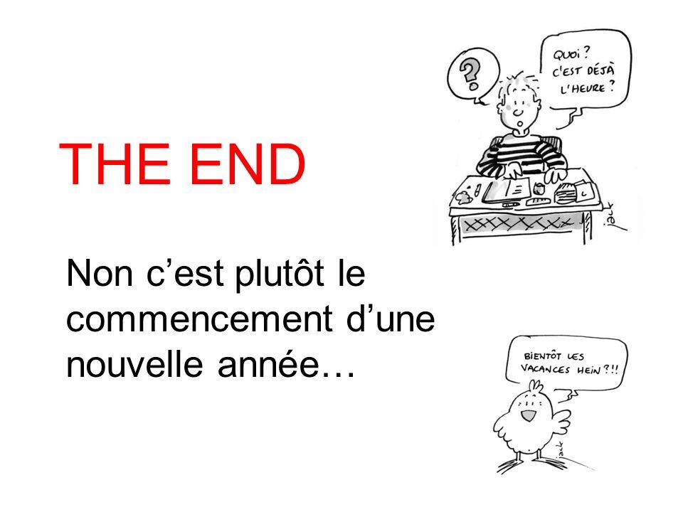 THE END Non c'est plutôt le commencement d'une nouvelle année…