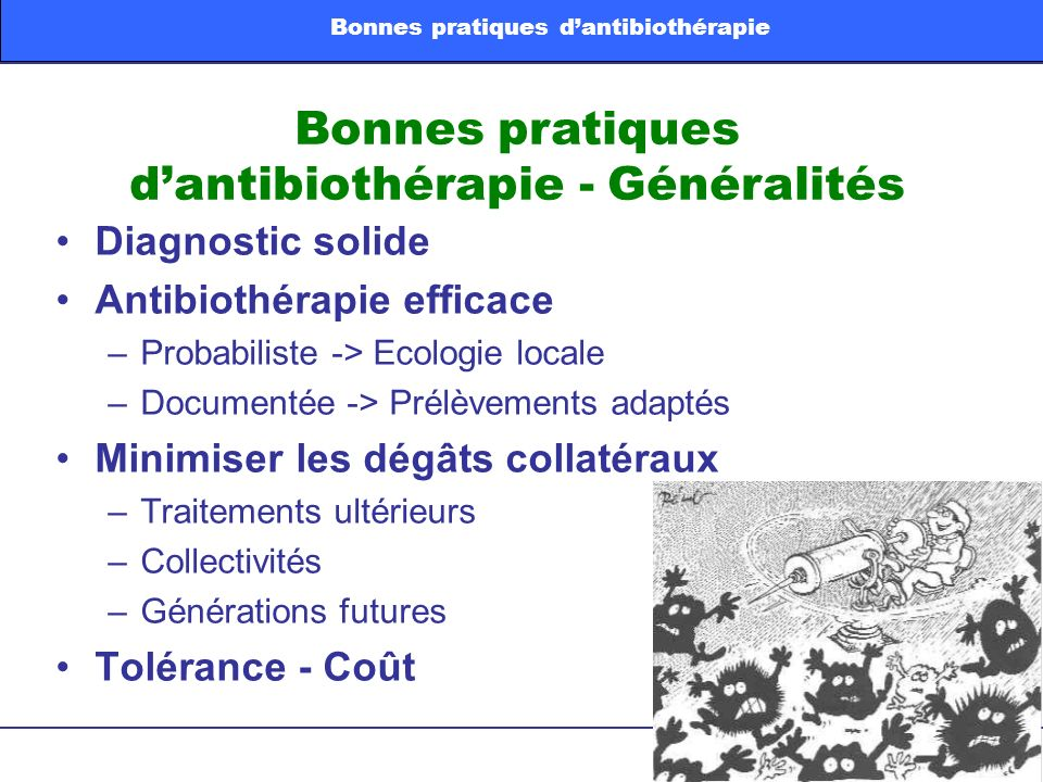 Bonnes pratiques d'antibiothérapie - Généralités