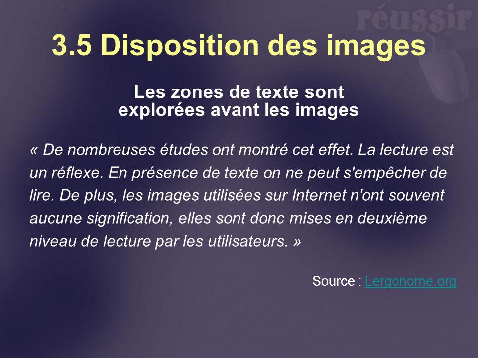 3.5 Disposition des images