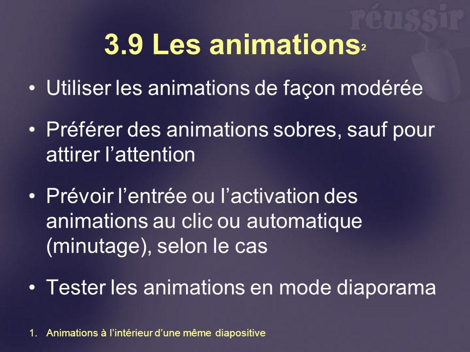 3.9 Les animations2 Utiliser les animations de façon modérée