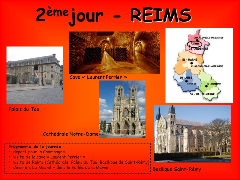 2èmejour - REIMS Cave « Laurent Perrier » Palais du Tau