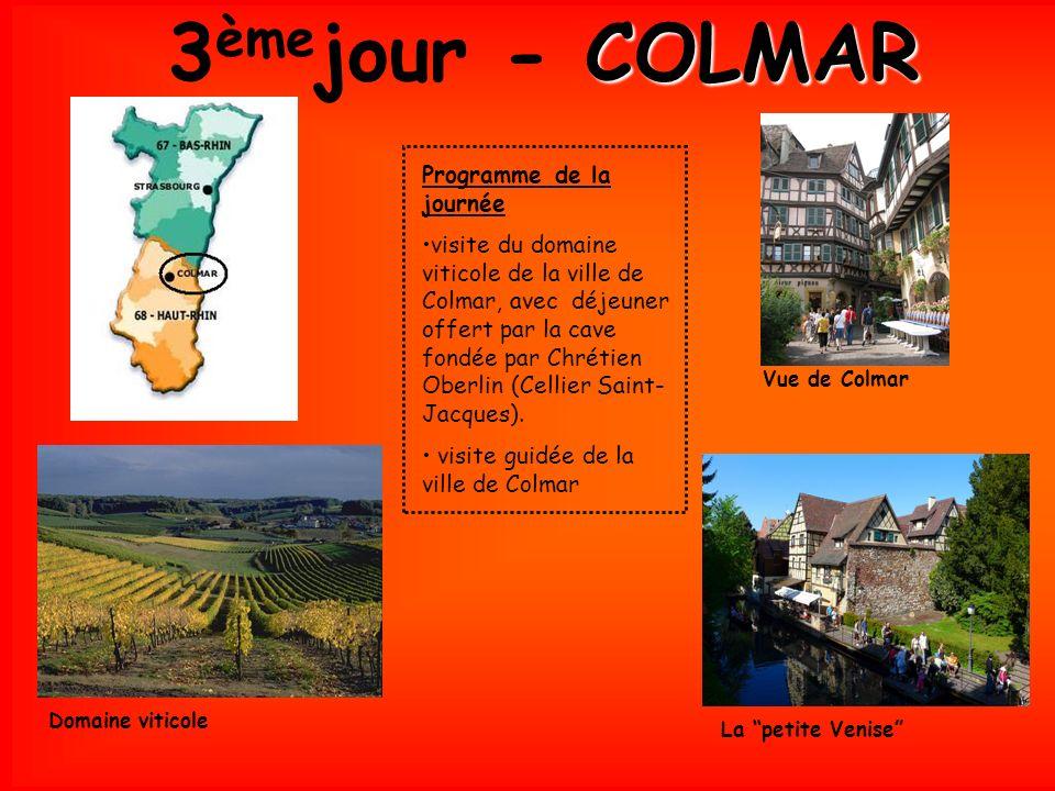 3èmejour - COLMAR Programme de la journée