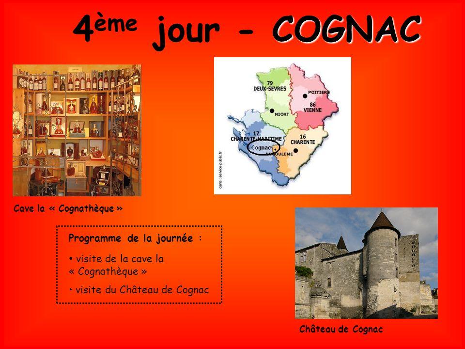 4ème jour - COGNAC visite de la cave la « Cognathèque »