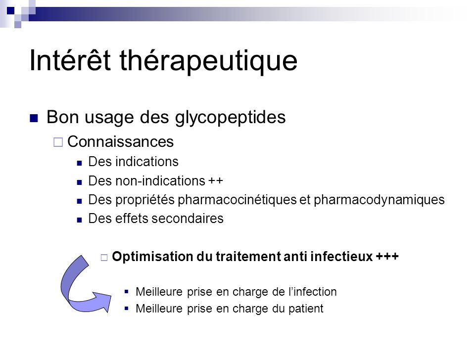 Intérêt thérapeutique