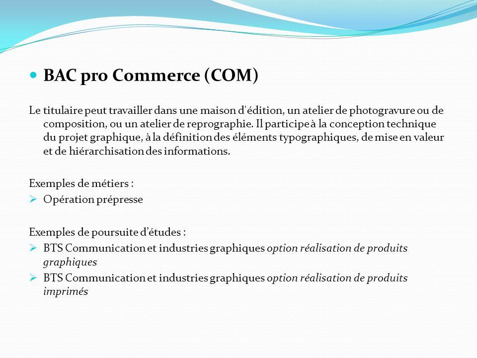 BAC pro Commerce (COM)