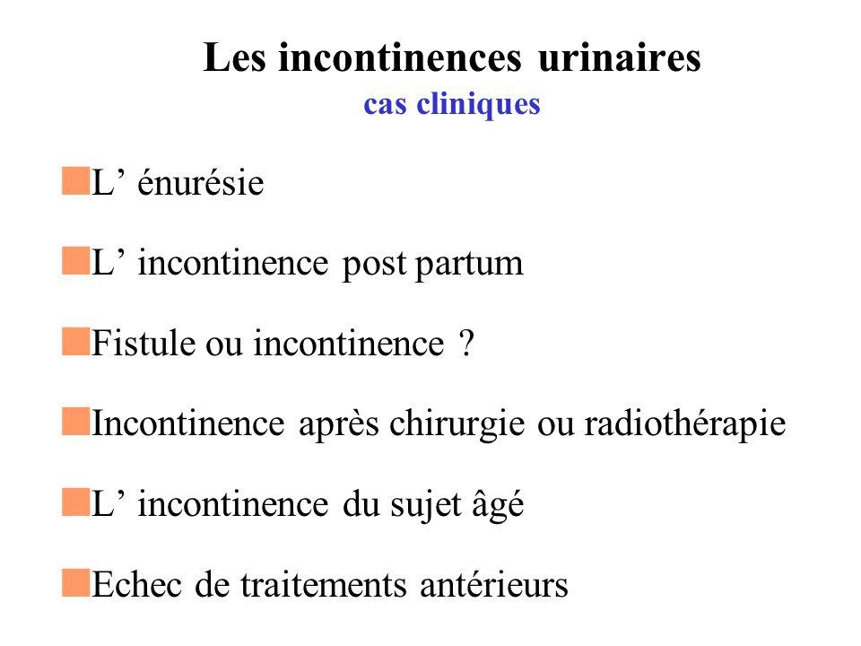 Les incontinences urinaires cas cliniques