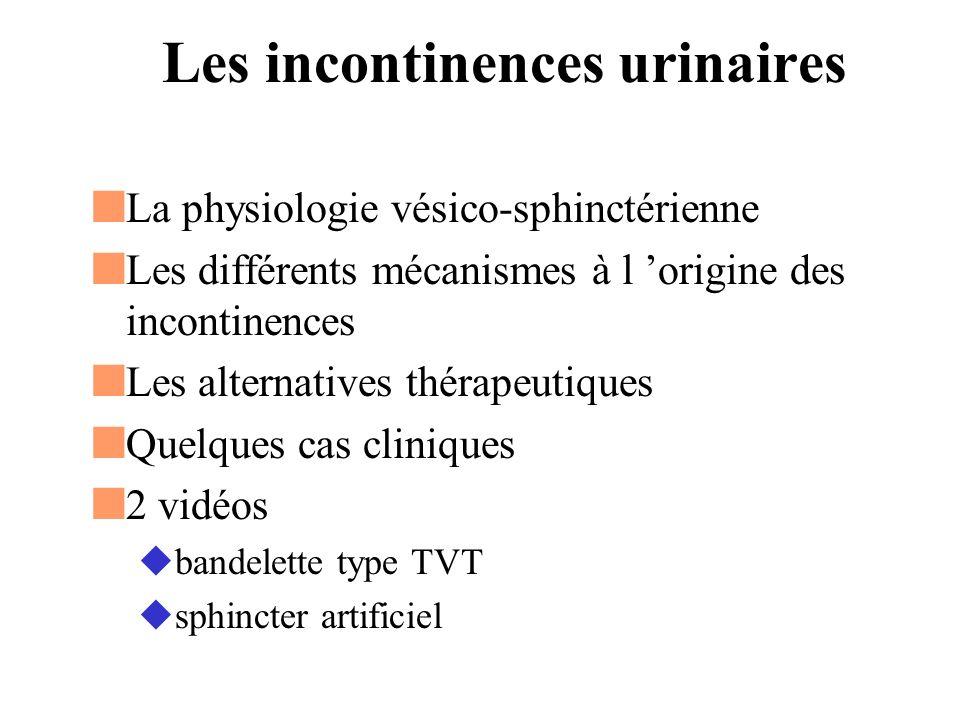 Les incontinences urinaires