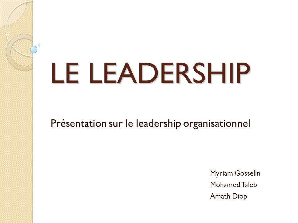 Présentation sur le leadership organisationnel