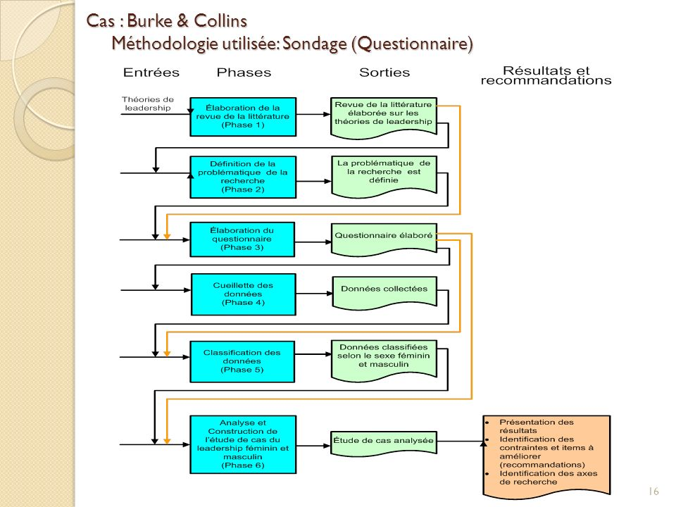 Cas : Burke & Collins Méthodologie utilisée: Sondage (Questionnaire)