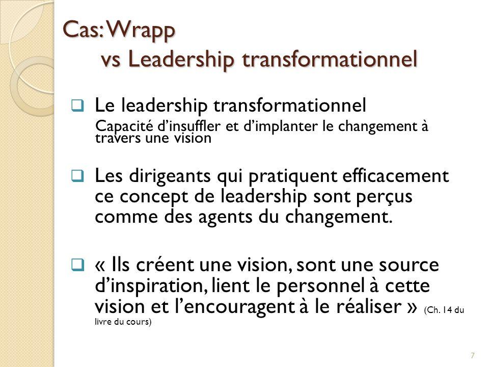 Cas: Wrapp vs Leadership transformationnel