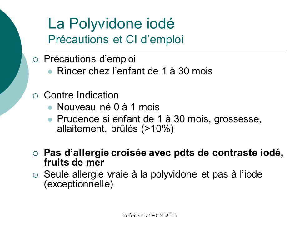 La Polyvidone iodé Précautions et CI d'emploi