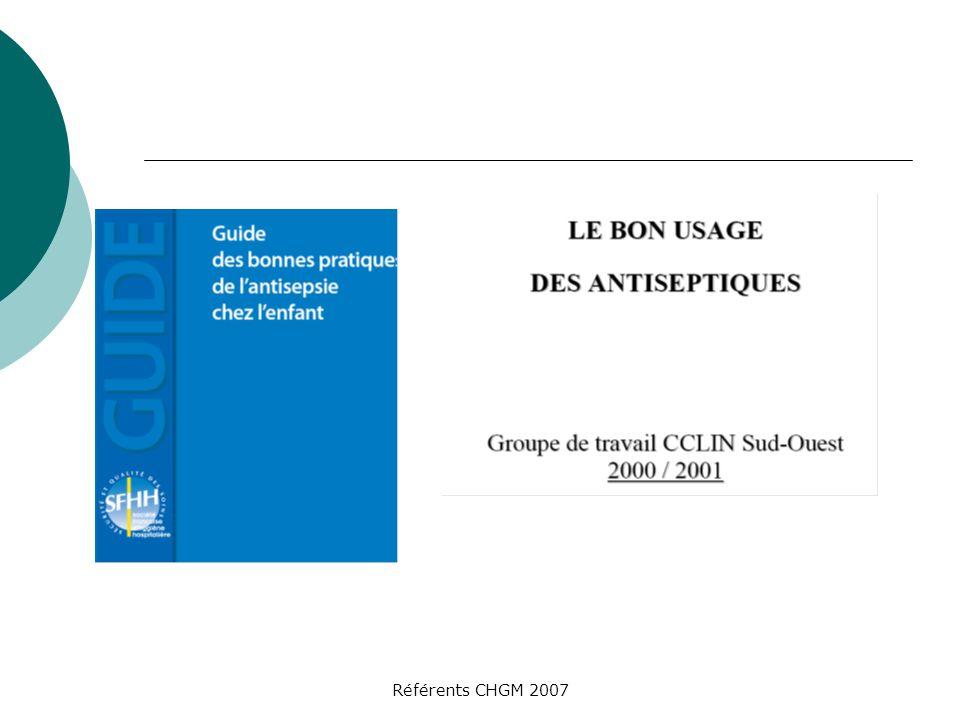 Référents CHGM 2007