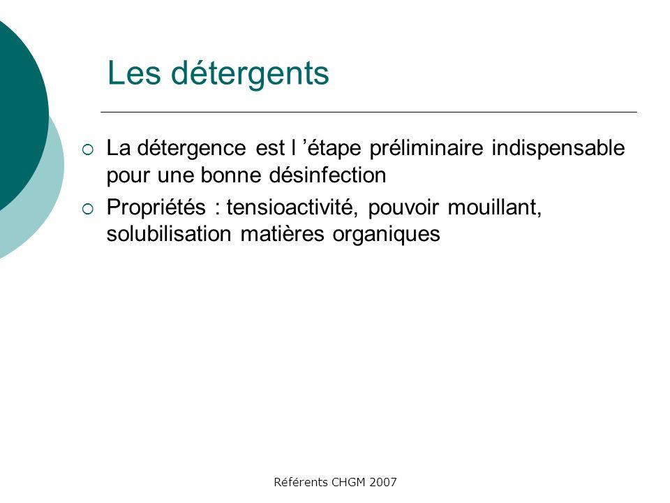 Les détergents La détergence est l 'étape préliminaire indispensable pour une bonne désinfection.