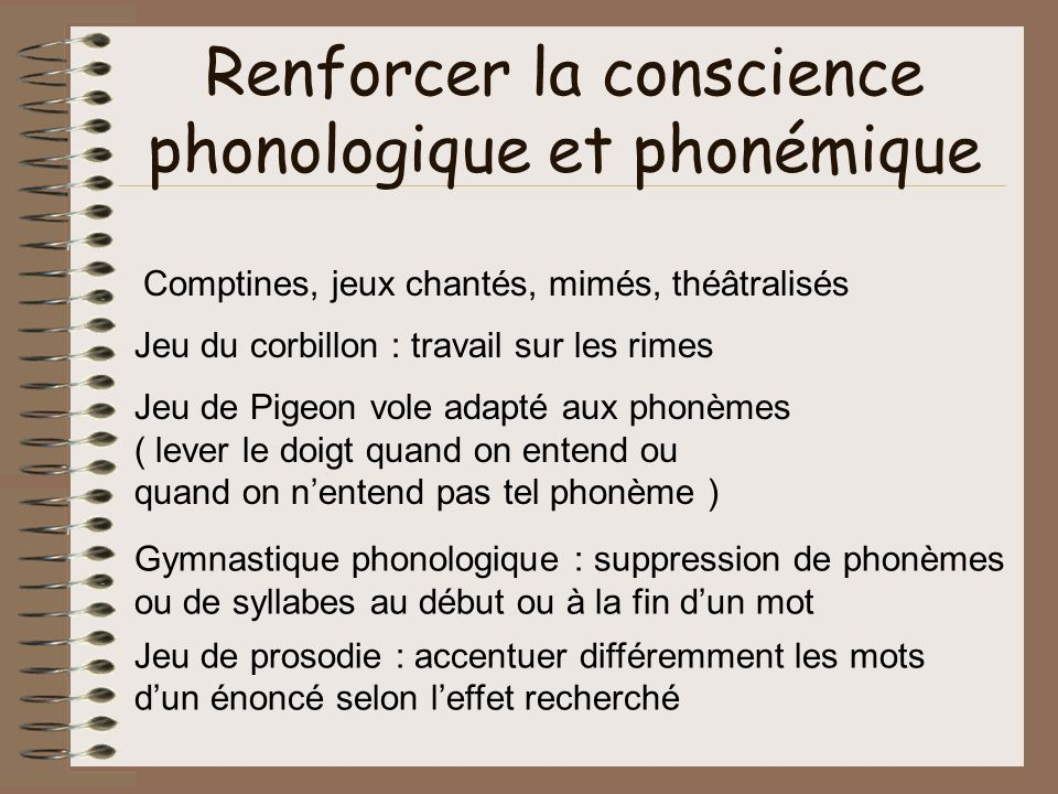 Renforcer la conscience phonologique et phonémique