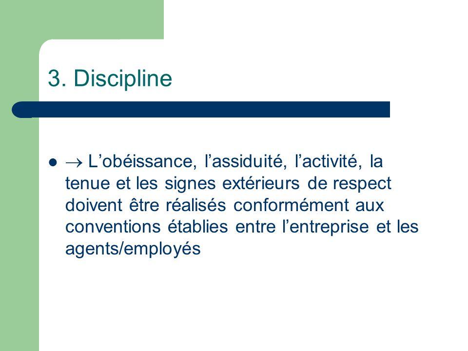 3. Discipline