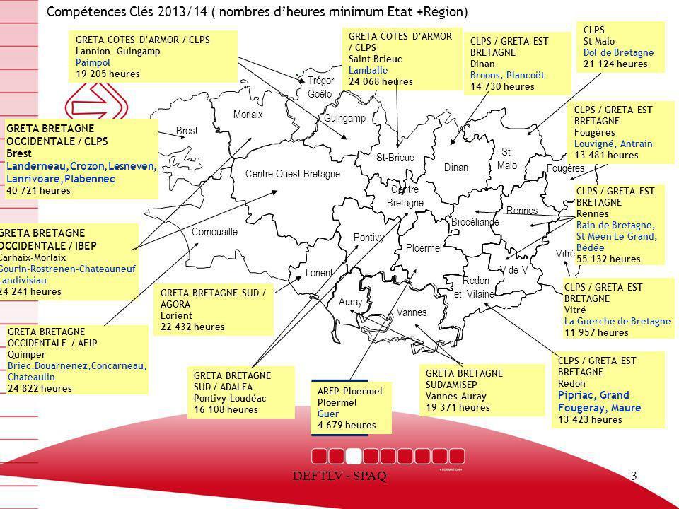 Compétences Clés 2013/14 ( nombres d'heures minimum Etat +Région)
