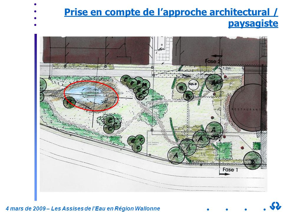 Prise en compte de l'approche architectural / paysagiste