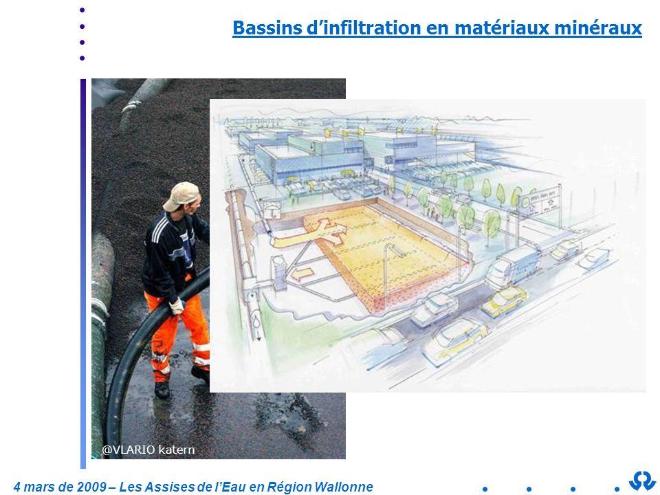 Bassins d'infiltration en matériaux minéraux