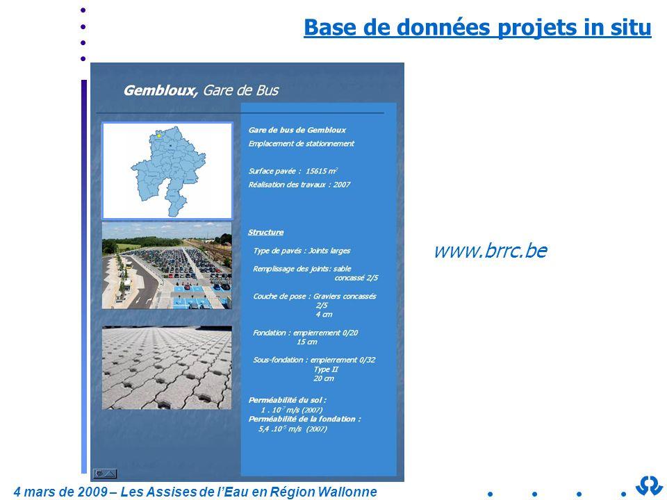 Base de données projets in situ