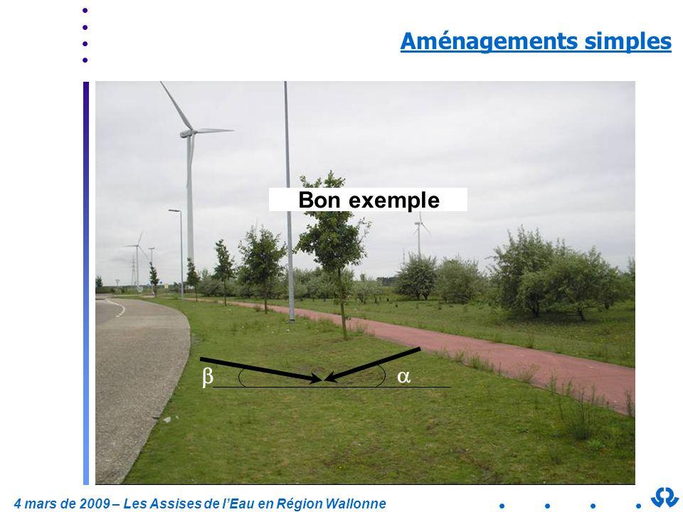 Aménagements simples Mauvais exemple Bon exemple a b a 5