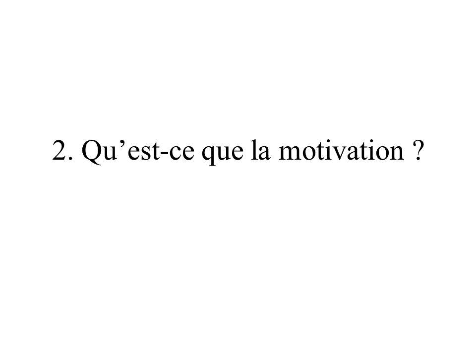 2. Qu'est-ce que la motivation