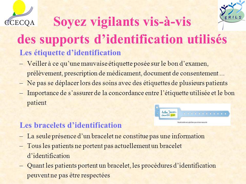 Soyez vigilants vis-à-vis des supports d'identification utilisés