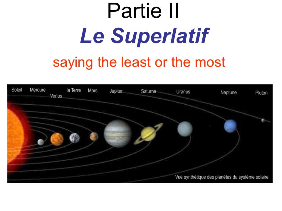 Partie II Le Superlatif
