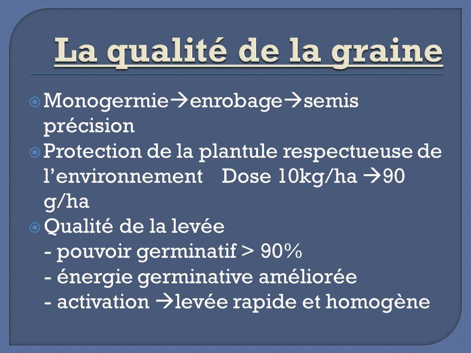 La qualité de la graine Monogermieenrobagesemis précision