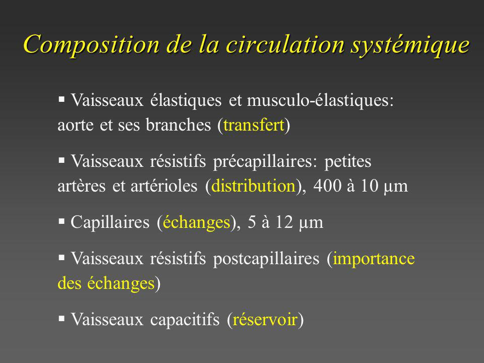 Composition de la circulation systémique