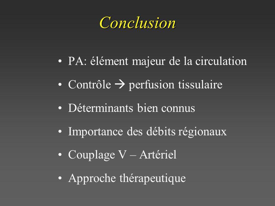 Conclusion PA: élément majeur de la circulation