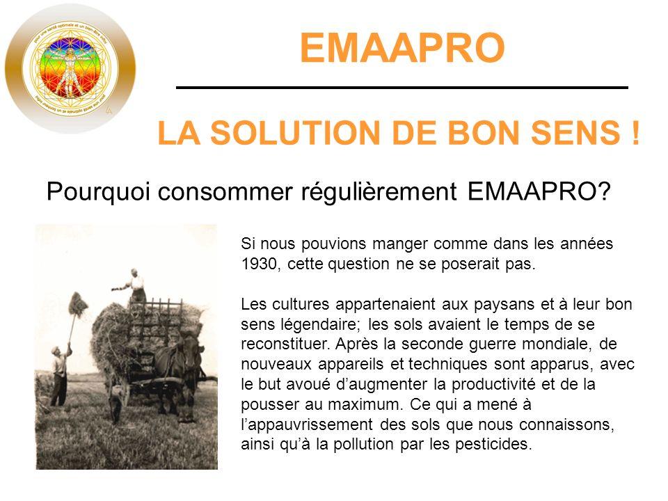 EMAAPRO LA SOLUTION DE BON SENS !