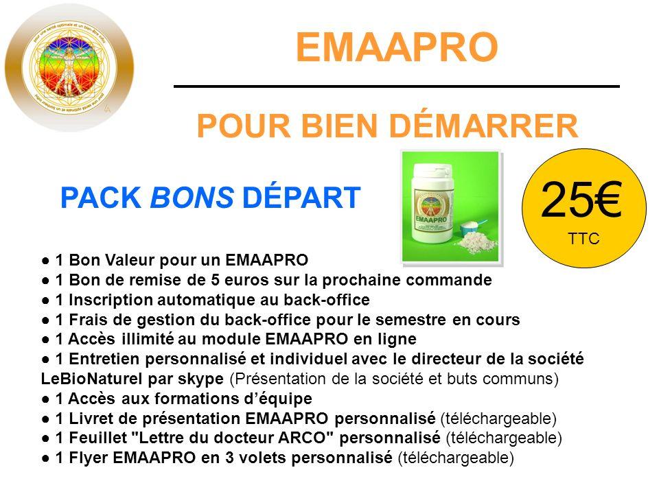 25€ EMAAPRO POUR BIEN DÉMARRER PACK BONS DÉPART TTC