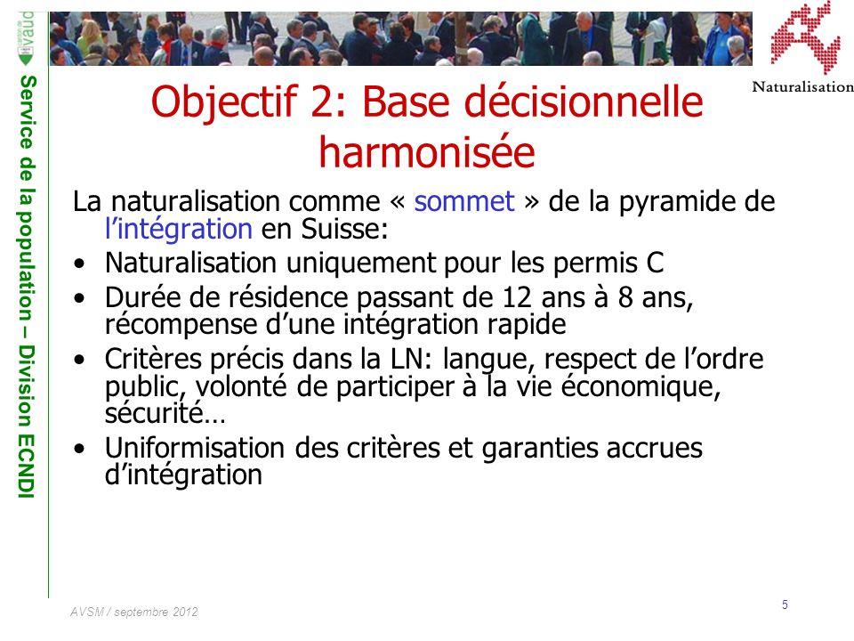 Objectif 2: Base décisionnelle harmonisée