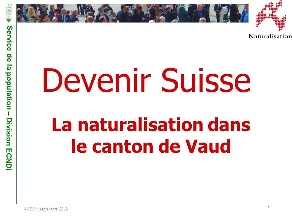 La naturalisation dans le canton de Vaud