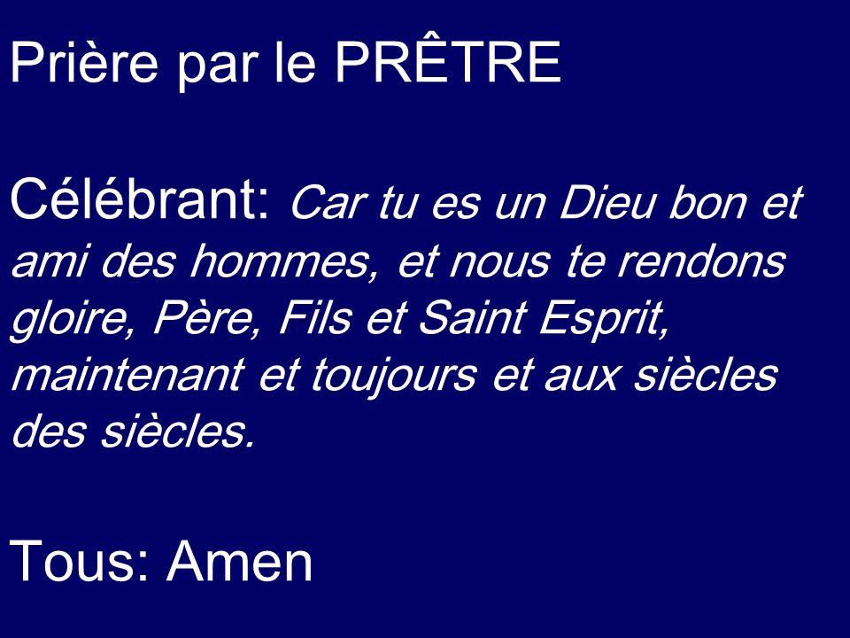Prière par le PRÊTRE