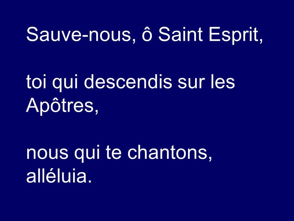 Sauve-nous, ô Saint Esprit,
