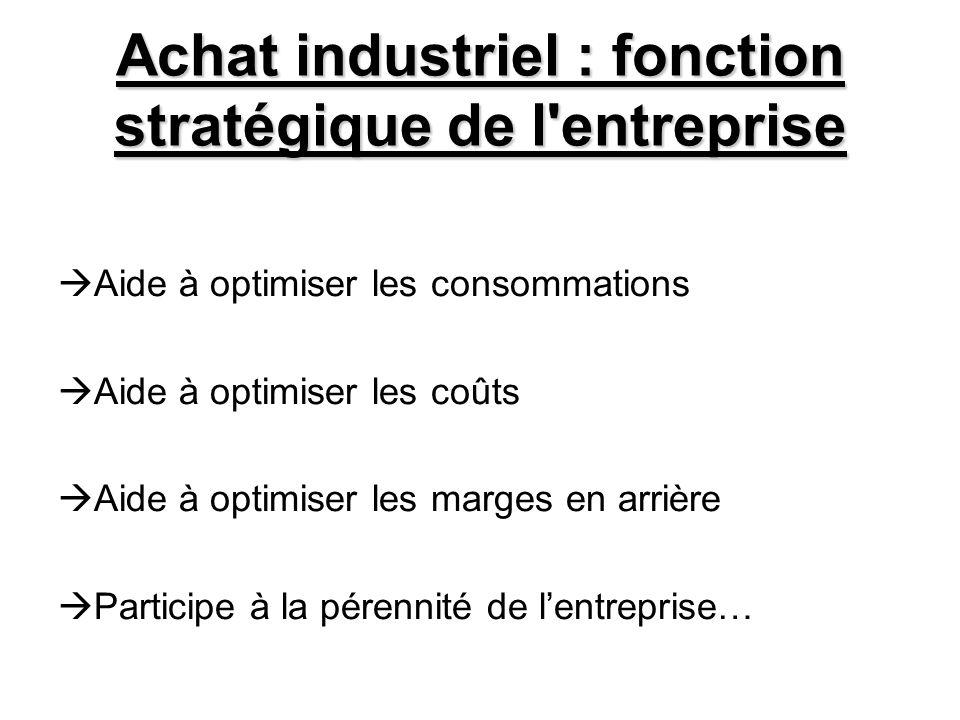 Achat industriel : fonction stratégique de l entreprise