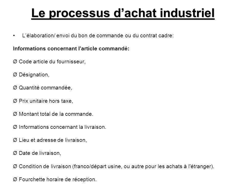 Le processus d'achat industriel