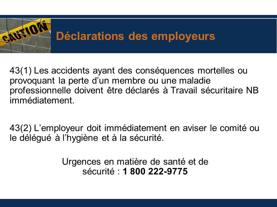 Déclarations des employeurs