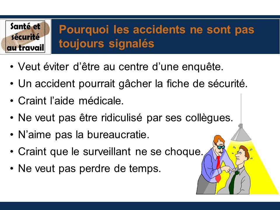 Pourquoi les accidents ne sont pas toujours signalés