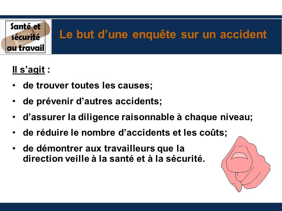 Le but d'une enquête sur un accident