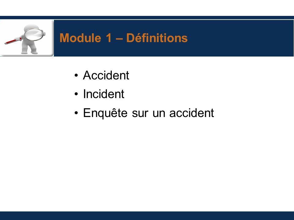 Enquête sur un accident