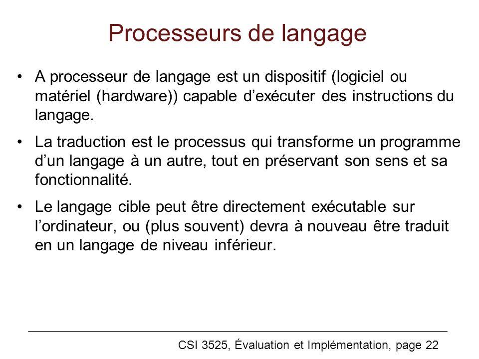 Processeurs de langage