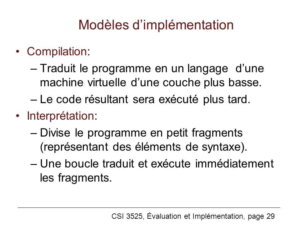 Modèles d'implémentation