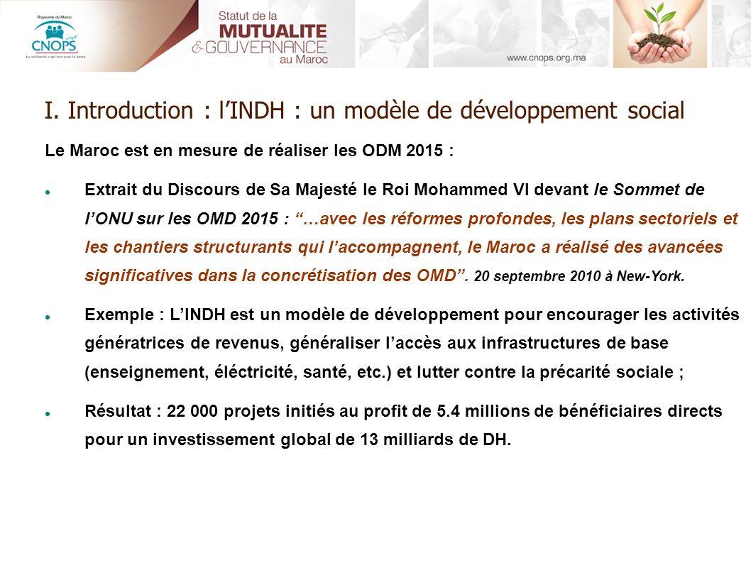 I. Introduction : l'INDH : un modèle de développement social