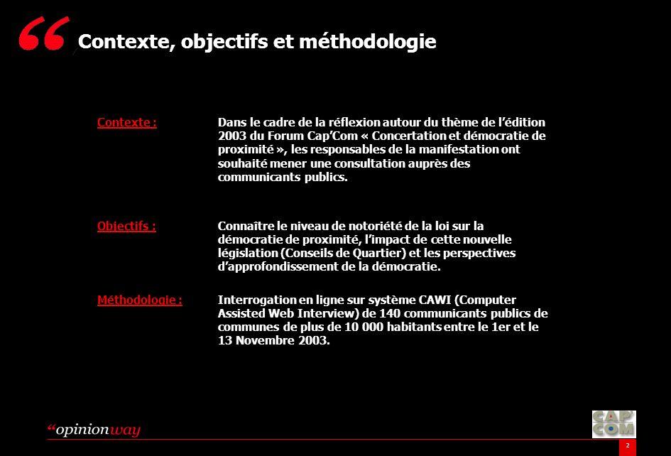 Contexte, objectifs et méthodologie