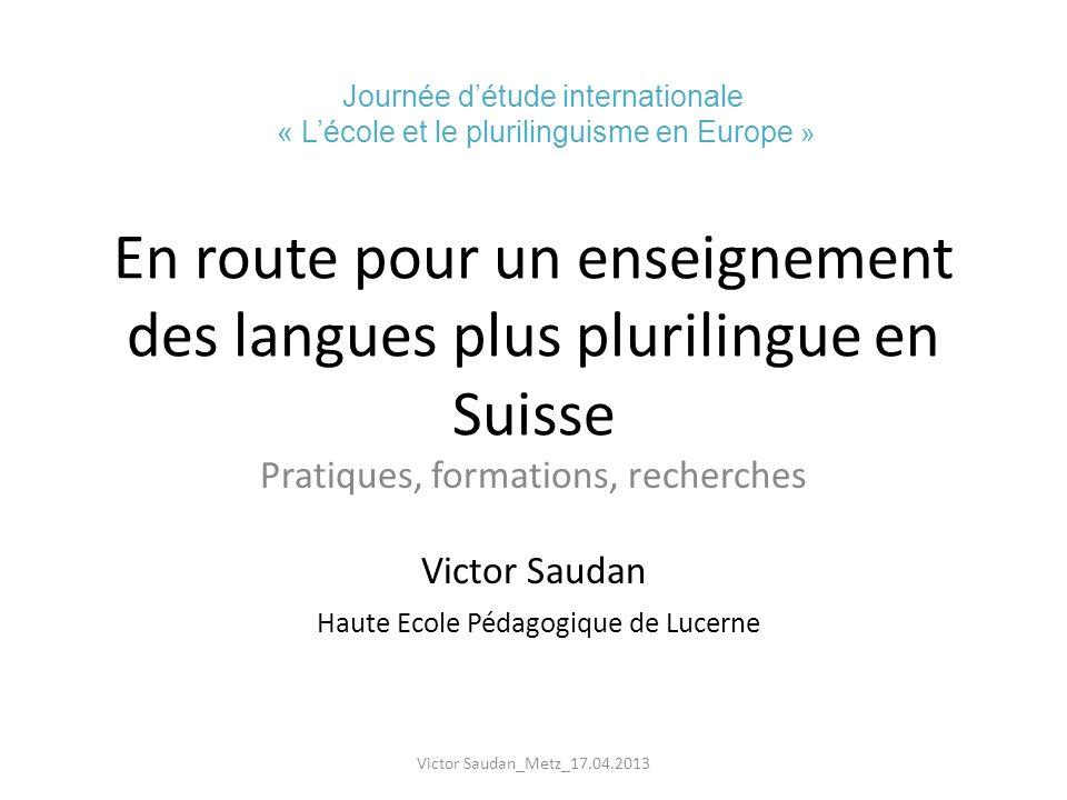 En route pour un enseignement des langues plus plurilingue en Suisse