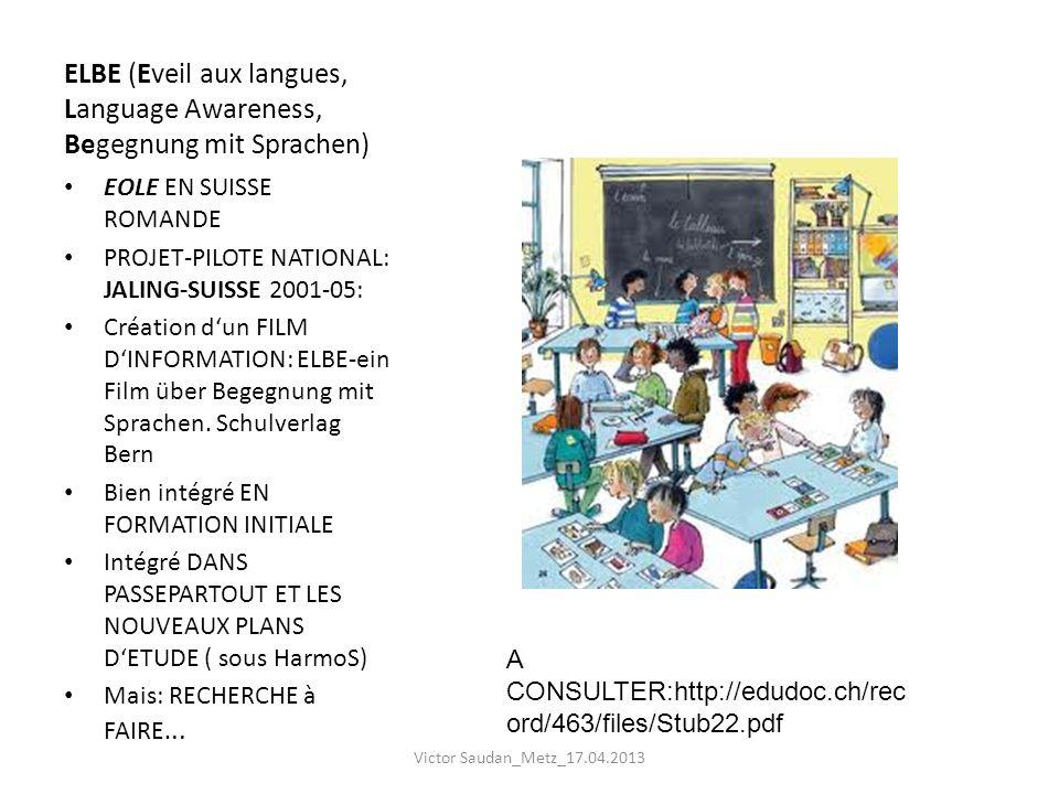 ELBE (Eveil aux langues, Language Awareness, Begegnung mit Sprachen)