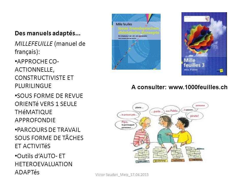 MILLEFEUILLE (manuel de français):